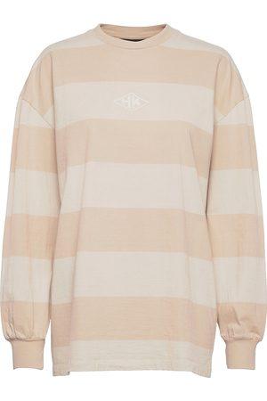 HAN Kjøbenhavn Dame Langermede - Boxy Ls Tee T-shirts & Tops Long-sleeved Rosa