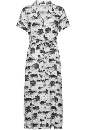 Modstrom Dame Mønstrede kjoler - Ivar Print Dress Dresses Everyday Dresses Hvit