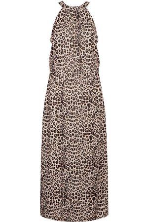 Boohoo Leopard Print High Neck Maxi Dress