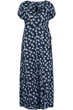 Boohoo Plus Floral Wrap Maxi Dress