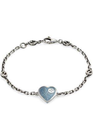 Gucci Bracelet with Interlocking G enamel heart