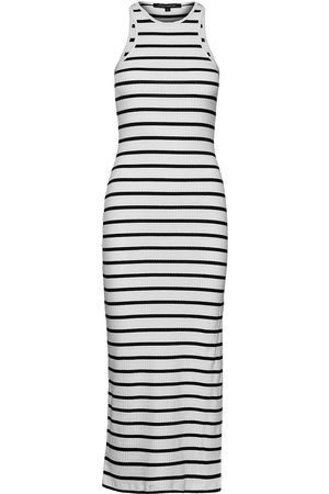 French Connection Tommy Rib Jersey Racer Neck Dr Dresses Bodycon Dresses Hvit