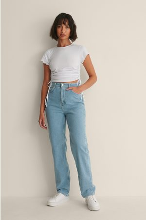 Melissa Bentsen x NA-KD Dame Straight - Vaskede Rette Jeans