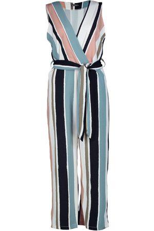 Boohoo Striped Tie Belt Culotte Jumpsuit