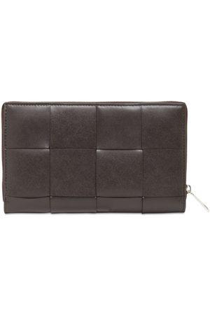 Bottega Veneta Maxi Intreccio Leather Zip Around Wallet