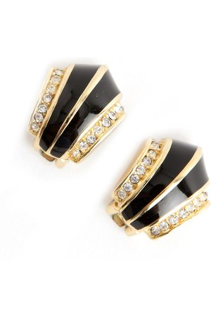 Dior Vintage Pre-owned Vintage Christian Art Deco shaped clip on earrings