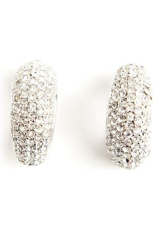 Dior Dame Ørepynt - Pre-owned Chrystal silver tone earrings