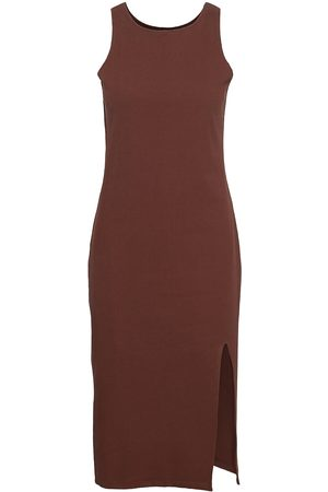 Blanche Dame Strikkede kjoler - Rosa Rib Dress Knelang Kjole Brun