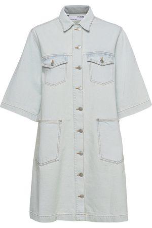 SELECTED Slfrubyrightlue 3/4 Ss Denim Dress U Knelang Kjole