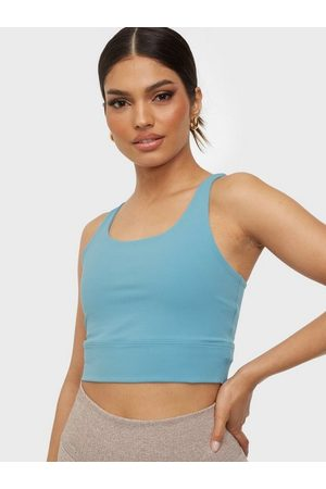 Nike Dame Treningstopper - The Yoga Luxe Crop Tank Blue
