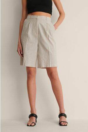 Curated Styles Dame Bermudashorts - Oversize Linshorts