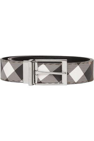 Burberry Herre Belter - Reversible check-print belt