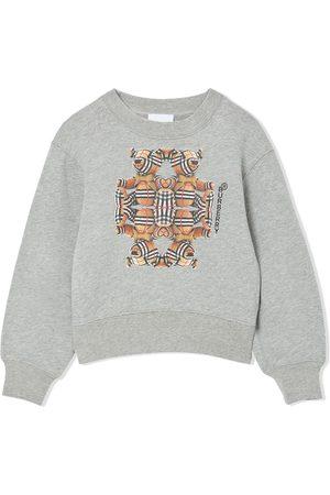 Burberry Langermede - Bear-print long-sleeve sweatshirt