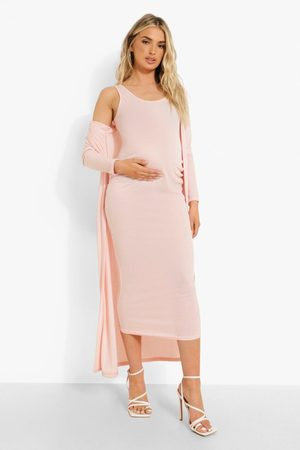 Boohoo Maternity Sleeveless Plunge Midaxi And Duster