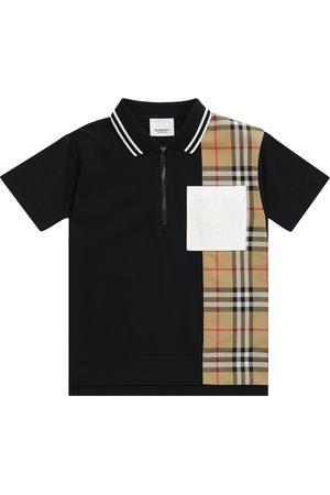 Burberry Vintage Check cotton piqué polo shirt