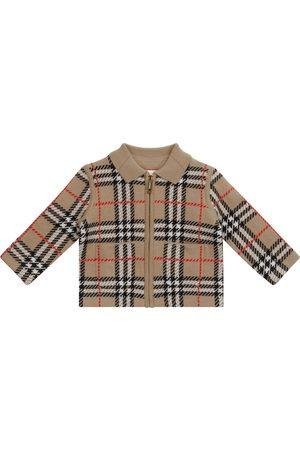 Burberry Baby checked merino wool jacket