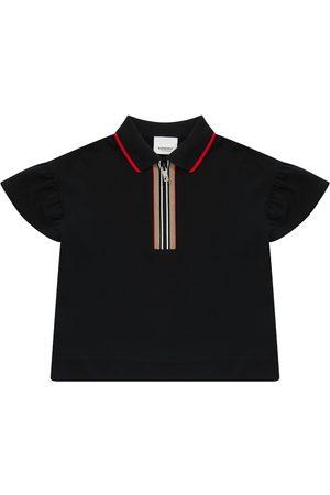 Burberry Icon Stripe cotton piqué polo shirt