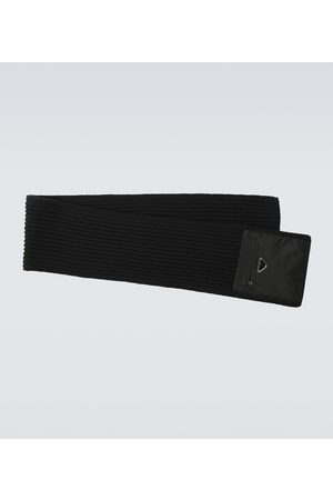 Prada Wool and Re-Nylon gabardine scarf