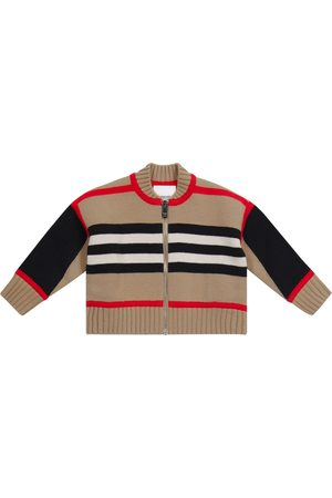 Burberry Baby Icon Stripe wool-blend cardigan