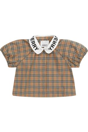 Burberry Baby checked stretch-cotton blouse