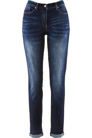 bonprix Dame Boyfriend - Stretch-Boyfriend-Jeans med behagelig linning