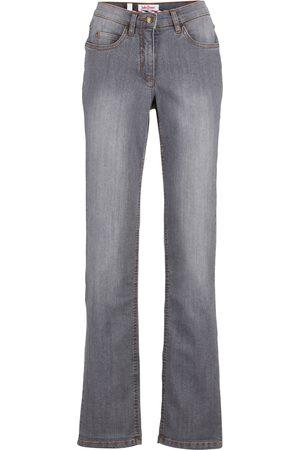 bonprix Dame Straight - Komfort-Stretch-Jeans, Straight