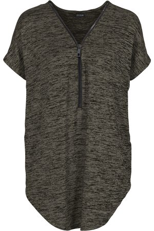 bonprix Dame Kortermede - Oversized T-shirt med glidelås