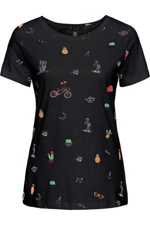 bonprix Dame Kortermede - T-shirt med trykk