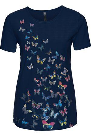 bonprix Dame Kortermede - T-shirt med sommerfugltrykk