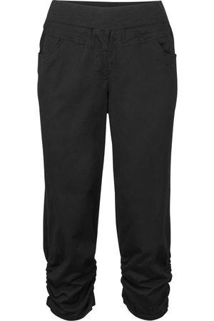 bonprix Capri-bukse med elastisk linning og rynker