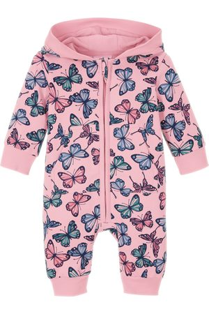 bonprix Sweat baby-jumpsuit med hette, økologisk bomul