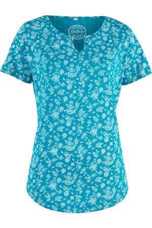 bonprix T-shirt i bomull, med trykk, kort arm