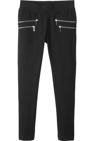 bonprix Dame Leggings - Bukse med stretch og glidelås i siden, for jente