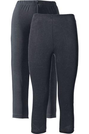 bonprix Dame Leggings - Capri-leggings med stretch (2-pack)