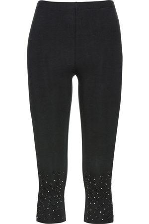 bonprix Capri-leggings med glitterstener