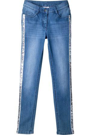bonprix Jente Skinny - Skinny jeans med paljettstriper