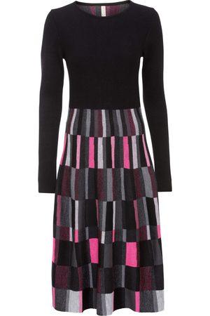 bonprix Dame Strikkede kjoler - Rutet strikkekjole