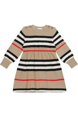 Burberry Striped wool and cashmere dress