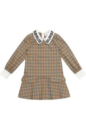 Burberry Jente Kjoler - Checked stretch-cotton dress