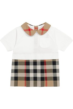 Burberry Baby Archive Check stretch-cotton dress
