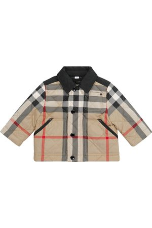 Burberry Baby Archive Check quilted jacket