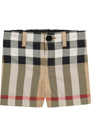 Burberry Baby Shorts - Baby checked stretch-cotton shorts