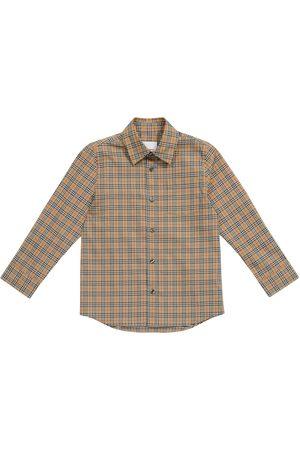 Burberry Archive Check stretch-cotton shirt