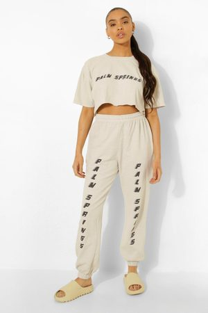 Boohoo Overdyed Palm Springs Cropped Tracksuit