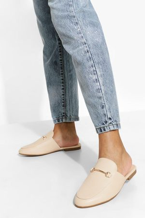 Boohoo Wide Fit T Bar Mule Loafers