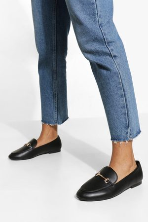 Boohoo Wide Fit T Bar Loafers