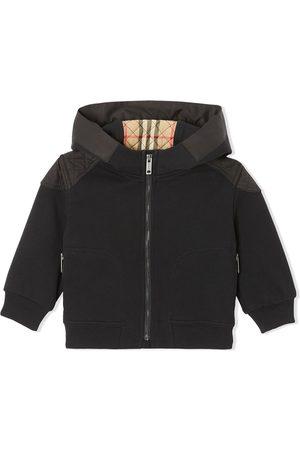 Burberry Hettegensere - Monogram-quilt zip-fastening hoodie