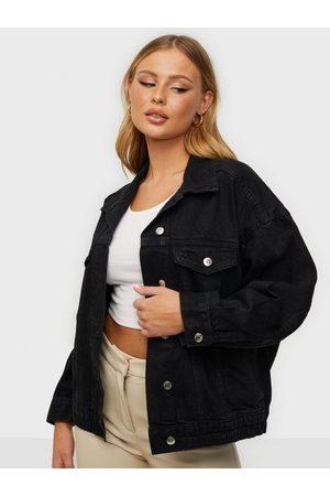 Gina Tricot Dame Denimjakker - 90s denim jacket Offblack