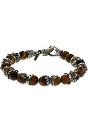 EMANUELE BICOCCHI Tiger Eye Beaded Chain Bracelet