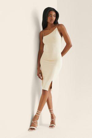 NA-KD Dame Bodycon kjoler - Assymmetrisk Kort Kjole Med Tynne Stropper